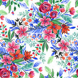 Colorful flowers pattern Royalty Free Stock Photography