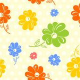 Colorful flowers seamless background Royalty Free Stock Image