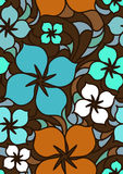 Colorful flowers seamless pattern Stock Images