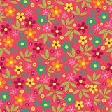 Colorful flowers seamless pattern background Royalty Free Stock Photography
