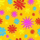 Colorful flowers seamless pattern Stock Photography