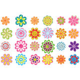 Colorful flowers set Royalty Free Stock Photography