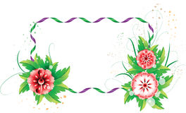 Colorful flowers with the space for text2 Stock Photo