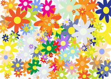 Colorful flowers vector Royalty Free Stock Photography