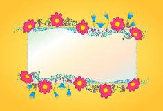 Colorful flowers vector background vector illustration