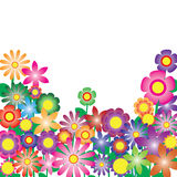 Colorful flowers vector for background Stock Photos