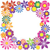 Colorful flowers vector for background Stock Photography