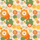 Colorful flowers wallpaper Stock Images