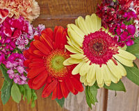 Colorful flowers wreath closeup Royalty Free Stock Photo