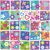 Colorful flowery pattern Stock Photo