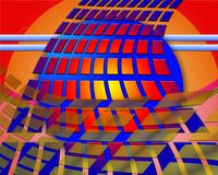 Colorful flowing rectangles. Illustration of colorful flowing rectangles and lines Royalty Free Stock Photo