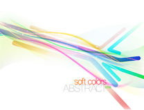 Colorful flowing with softness style. Vector concepts on a white background Stock Photos