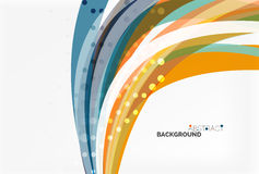 Colorful flowing wave abstract background Stock Image