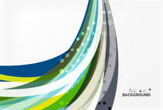 Colorful flowing wave abstract background Royalty Free Stock Photos