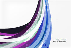Colorful flowing wave abstract background Royalty Free Stock Image