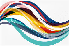 Colorful flowing wave abstract background Royalty Free Stock Images
