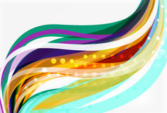 Colorful flowing wave abstract background. Vector template background for workflow layout, diagram, number options or web design Royalty Free Stock Image