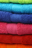 Colorful fluffy cotton  towels Royalty Free Stock Images