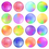 Colorful fluid, Round gradient set, modern abstract backgrounds. Trendy soft color. Template for screens and mobile app Royalty Free Stock Image