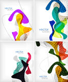 Colorful fluid shapes layout Royalty Free Stock Photography