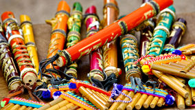Colorful flutes Stock Image