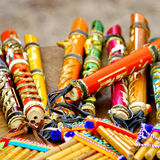Colorful flutes Royalty Free Stock Images