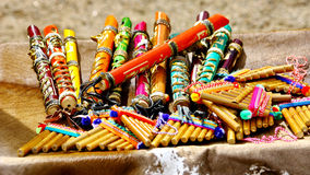 Colorful flutes Royalty Free Stock Photos