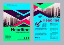Colorful flyer design template. Brochure Layout design. Flyer design template. Annual Report Leaflet cover Brochure Layout. Presentation Modern background Stock Photo