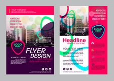 Colorful flyer design template. Brochure Layout design. Stock Image