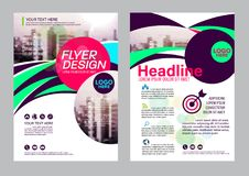 Colorful flyer design template. Brochure Layout design. Royalty Free Stock Photos