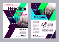 Colorful flyer design template. Brochure Layout design. Royalty Free Stock Photo