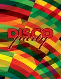 Colorful flyer for disco party. Vector graphic layout Stock Photos