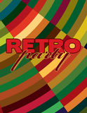 Colorful flyer for retro party. Vector graphic layout Royalty Free Stock Photos