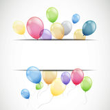 Colorful Flying Balloons Royalty Free Stock Photography