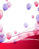 Colorful Flying Balloons. Illustration of an Abstract Background with Balloons Stock Image