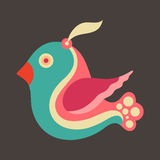 Colorful flying bird. Royalty Free Stock Photography