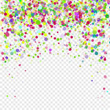 Colorful flying falling the elements of decoration of the celebration. Abstract background with falling confetti Royalty Free Stock Images