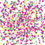 Colorful flying falling the elements of decoration of the celebration. Abstract background with falling confetti. Multicolored paper confetti on transparent Royalty Free Stock Photography