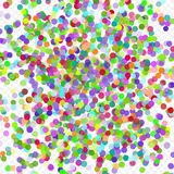 Colorful flying falling the elements of decoration of the celebration. Abstract background with falling confetti. Multicolored paper confetti on transparent Stock Photography