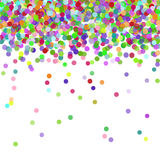 Colorful flying falling the elements of decoration of the celebration. Abstract background with falling confetti. Multicolored paper confetti on white background Royalty Free Stock Images