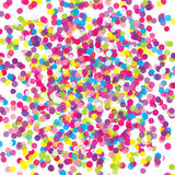 Colorful flying scattered elements of decoration of the celebration. Abstract background with falling confetti. Multicolored paper confetti on white background Royalty Free Stock Photo