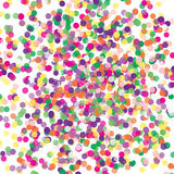 Colorful flying scattered elements of decoration of the celebration. Abstract background with falling confetti. Multicolored paper confetti on white background Stock Images