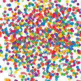 Colorful flying scattered elements of decoration of the celebration. Abstract background with falling confetti Stock Photography