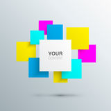 Colorful flying text boxes design. Vector EPS10 Stock Photography