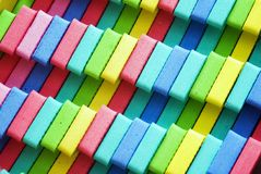 Colorful foam background. Rows of colorful foam as a background Royalty Free Stock Photo