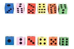 Colorful foam dice Stock Photography