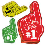 Colorful foam fingers sketch Royalty Free Stock Photography