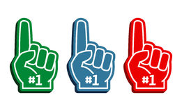 Colorful foam fingers vector set Stock Photography
