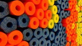 Colorful foam floats stock photo