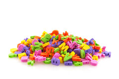 Colorful foam letters Royalty Free Stock Photo